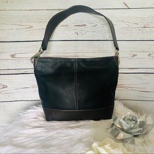 Tignanello Leather black and brown Handbag